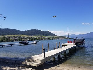 Lakefront House on Okanagan: Sandy Beach,  Dock, 2xPatios, 4 Bed/3 Bath, A/C