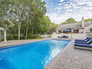 Secluded Hamptons Getaway with Pool, Hot Tub, Cabana Bar & Firepit