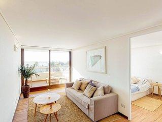Depto frente al mar c/balcon y cocina full - Oceanview apt. w/balcony & kitchen