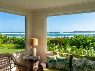 10 steps to the sand, beachfront Hanalei Colony in Haena,private and romantic