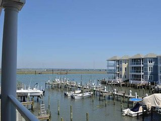 Chincoteague Getaway on the Bay - 2nd Floor Water Front Condo - In Town