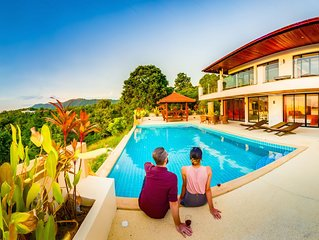 Huge Seaview Swimming Pool! Luxury Villa 4BR Mountain House, Long Beach