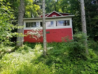 Seasonal  3 bedroom camp, with private dock,  cable tv, propane grill
