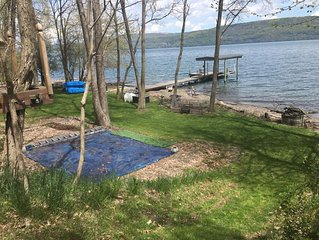 Private waterfront campsite on Seneca Lake, for the purists among us
