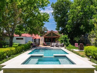 Sweet Escape- Historic Rock Estate Home with Pool & Hot Tub-1 Block to Main!