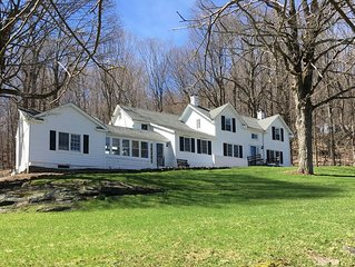 1890s secluded Farmhouse on 10 acres 75 minutes to NYC