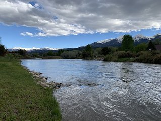 Sangre de Cristo Twin Sisters 14ers across the River