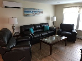 BRAND NEW BEACH UNIT W/CENTRAL AIR AND FREE BEACH PARKING AT OWNERS BEACH LOT .