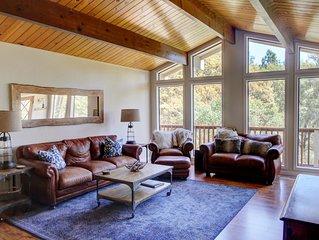 Renovated Cabin with Soaring Windows & Private Hot Tub Near Yosemite
