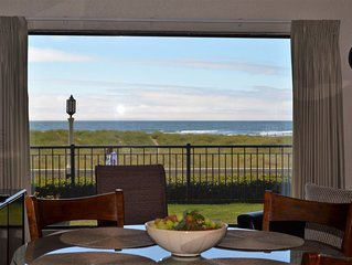 On the Promenade 1st floor. Spectacular Panoramic Ocean Views, Patio with grassy