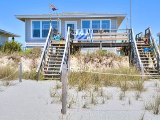 Oceanfront At Holden Beach.  Perfect for small family, and Pet Friendly too !