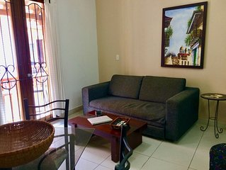 Calle de la Moneda one bedroom apartment in Old City center! - AC/hot H20/Wifi