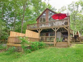 Deep Creek Lake - Lakefront - Sleeps 12 W/ Hottub, Private Dock & Pups Ok Too!