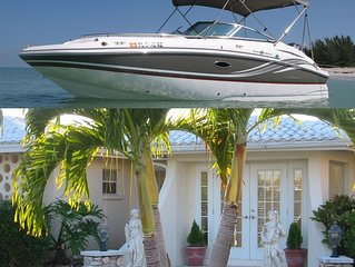 2018 Hurricane Deck Boat included with Beautiful Yacht Club Pool Home