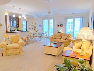 Adorably decorated poolside condo, right on the beach! Sleeps 6!