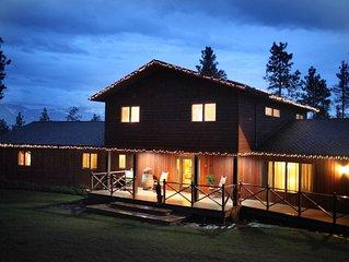 5+ Bedrooms, 6 baths, Heated Indoor Pool, Sauna, additional Lake Cabin option