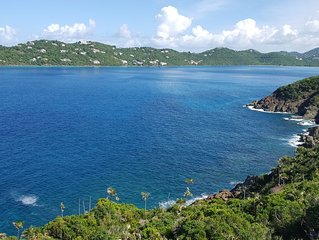 Secluded Bed & Breakfast Villa overlooking Magens Bay and minutes from the beach