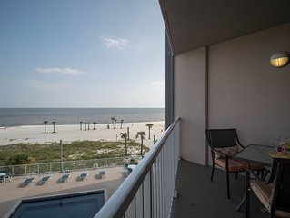 Life's At Ease With An Ocean Breeze! Biloxi's Only Condo Directly On Beach!