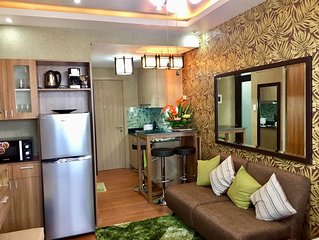 Luxury and Comfort at 28th Floor 1 Bedroom Suite with Balcony and Own Car Park