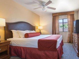 World Mark condo at Lake Havasu, Master with king bed and queen sofa sleep