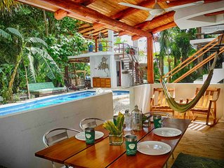 Villa Jardin - 2 BR, kitchen, pool, walk to Samara from your riverfront hideaway