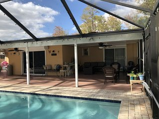 Beautiful 3 bd 2 bath home with a pool on 1-1/4 acre property.