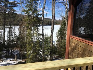 Secluded waterfront home, minutes from Lake Placid and Saranac Lake