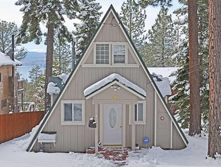 Cozy Classic A Frame Tahoe Cabin Sunny Deck with Views of Lake Tahoe