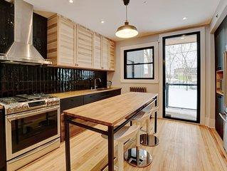 Fully renovated Modern, spacious, 3 bedrooms in NDG