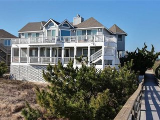 #204: Oceanfront in Corolla Light w/Hot Tub, Rec.Rm/Elevator and Community Pool
