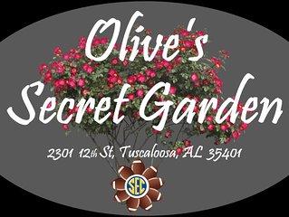 Olive's Secret Garden, 12 blocks from stadium