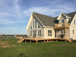 Spectacular oceanfront views in newer cottage.