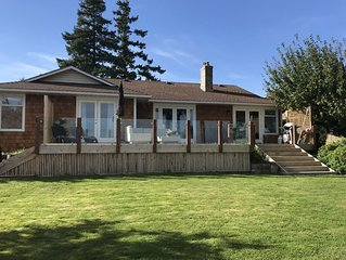 waterfront bungalow over looking Parksville Bay