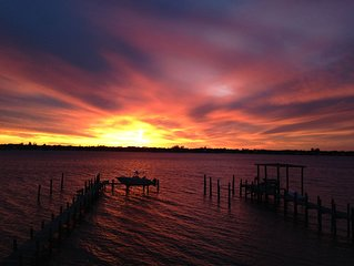 Sunset Waterfront Views in Beautiful Sewall's Point