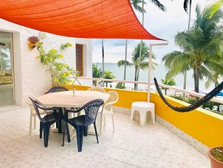 Wonderful 3 bedroom apartment, directly on the beach