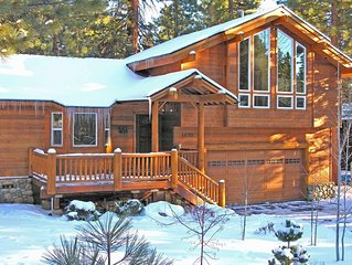 Comfortable large home with Tahoe Forest views on a quiet street close to hiking