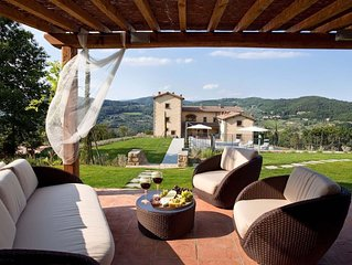 BREATHTAKING 9BD-7BA VILLA IN TUSCANY W/POOL, 9 MILES FROM FLORENCE!