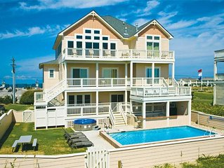 Oceanfront Dream Island Vacation-Pool, Hot Tub, Theater & Game Rms, Dog-Friendly