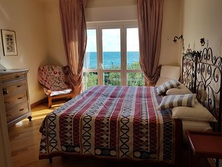 Exclusive apartment by the beach. amazing sea view from wide Terrace and Bedroom