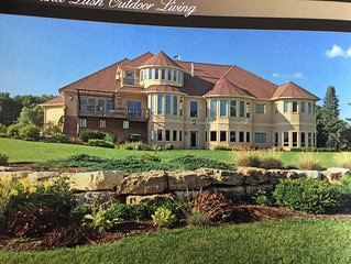 Executive Home located on Baraboo Country Club golf course.