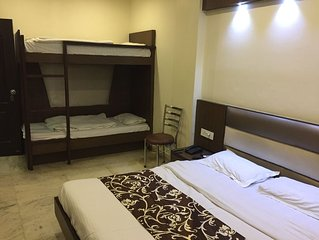 Triple Bed AC Room with Breakfast in Central Delhi