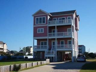 Oceanview steps to Beach at Rodanthe Pier. Elevator, Pool & Hot Tub, With Linen