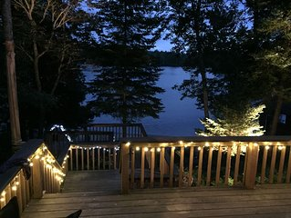 Stunning private beach and newly renovated, four-season, lakefront cottage