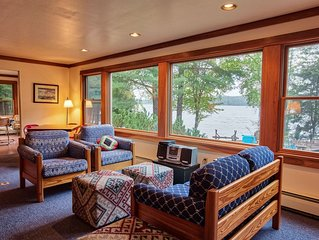 Audubon House on Pristine Upper Saranac Lake- Prime Weeks Available!