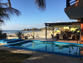 Beachfront Villa C/W Private Pool 3BR/3.5 BA on Secluded Beach