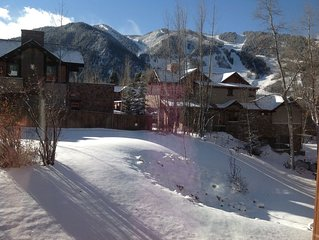 2br 1 Bath with bedroom and Livingroom View of Aspen Mountain