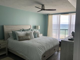 Beautifully appointed oceanfront condo (non-drive beach, pool/spa)