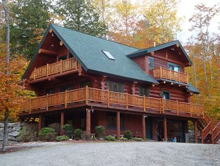 Maine Highland Lake Access Hand Crafted Log Home