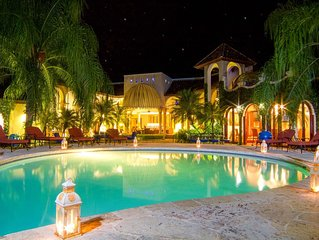 EXTRAVAGANT GOLF FRONT MANSION CLOSE TO OCEAN W/ COOK, BUTLER, MAIDS, GOLF CARTS