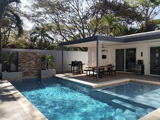 New finished modern style 3 bedroom home in walking distance to the beach